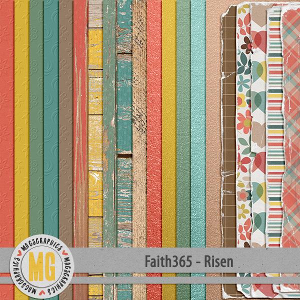 Faith365 Risen Specialty Papers Digital Art - Digital Scrapbooking Kits