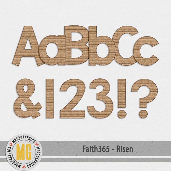 Faith365 Risen Alpha Digital Art - Digital Scrapbooking Kits