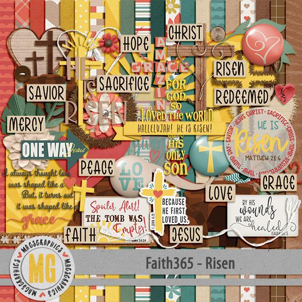 Faith365 Risen Kit Digital Art - Digital Scrapbooking Kits