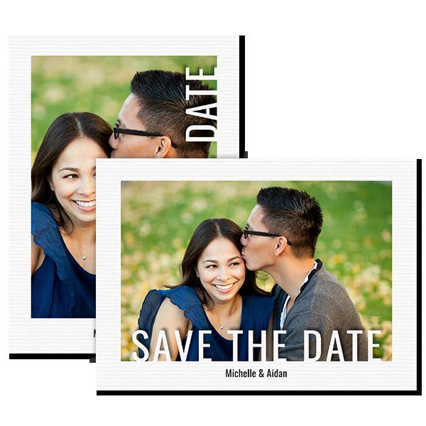 Modern Save the Date Card Card
