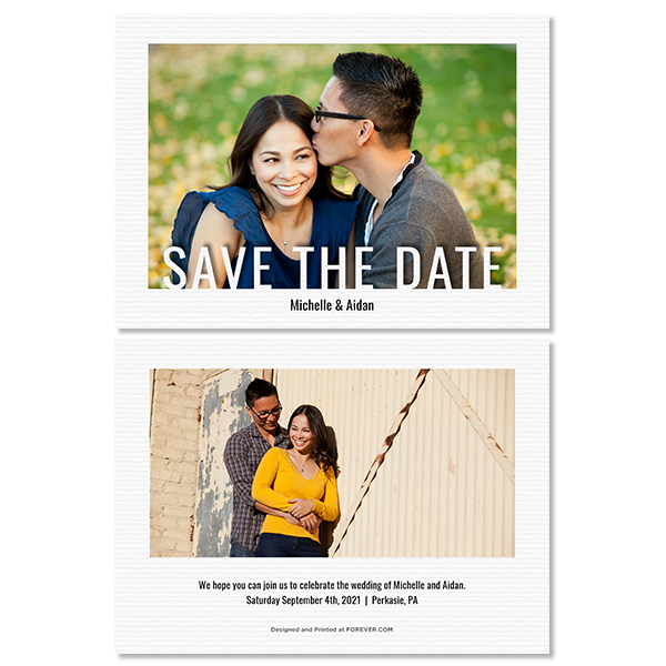 Modern Save the Date Card