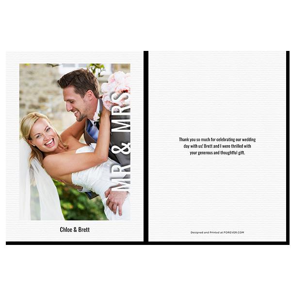 Modern Mr & Mrs Card