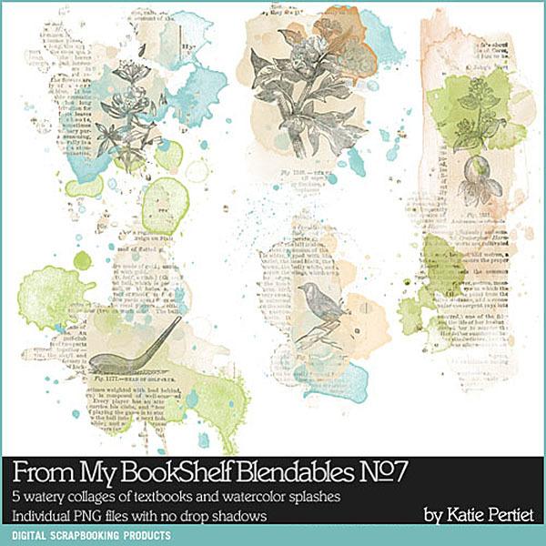 From My Bookshelf Blendables 07 Digital Art - Digital Scrapbooking Kits