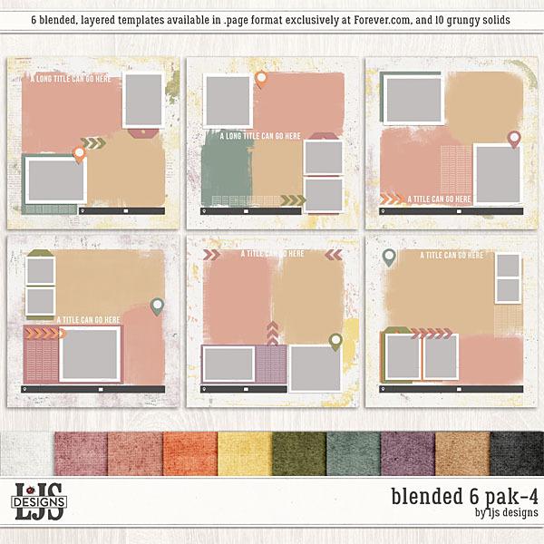 Blended 6 Pak-4 Digital Art - Digital Scrapbooking Kits
