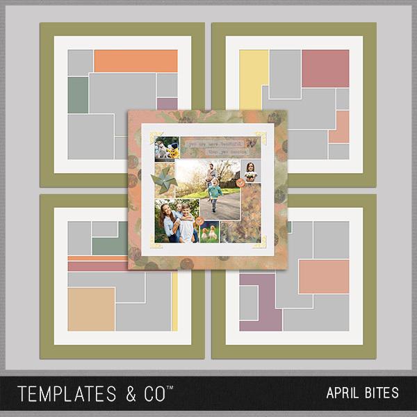 April Bites 1-4 Digital Art - Digital Scrapbooking Kits