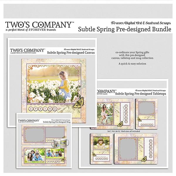 Subtle Spring Pre-designed Bundle Digital Art - Digital Scrapbooking Kits