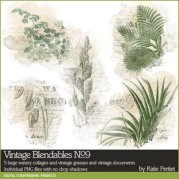 Vintage Blendables 09 Digital Art - Digital Scrapbooking Kits