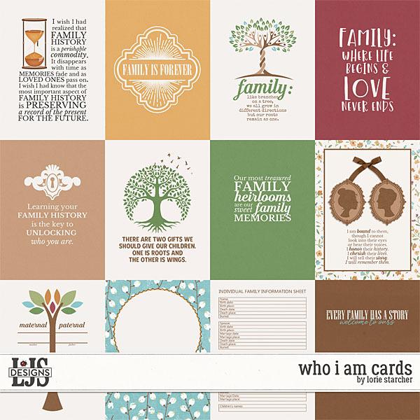 Who I Am Cards Digital Art - Digital Scrapbooking Kits