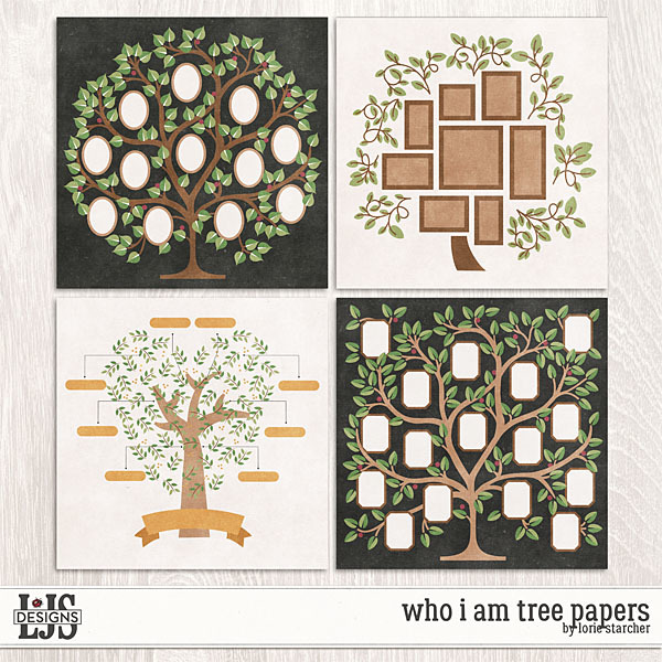 Who I Am Papers Digital Art - Digital Scrapbooking Kits