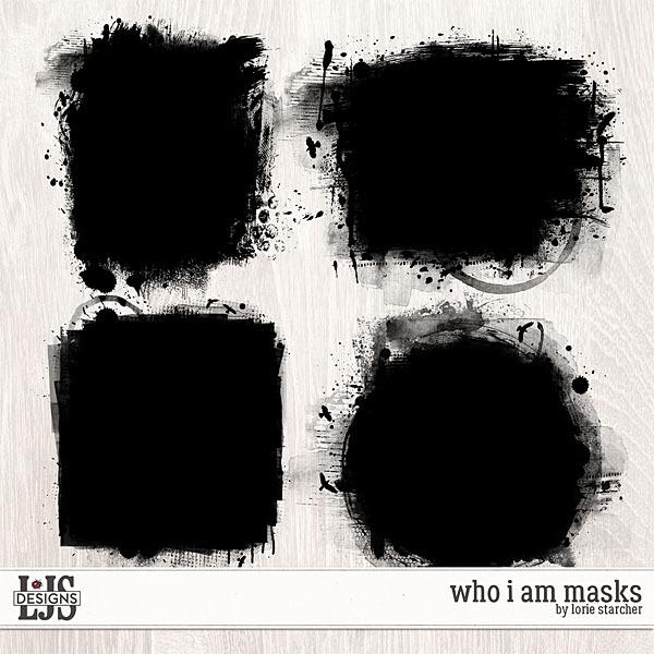 Who I Am Masks Digital Art - Digital Scrapbooking Kits