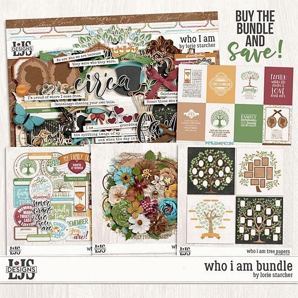 Who I Am Bundle Digital Art - Digital Scrapbooking Kits