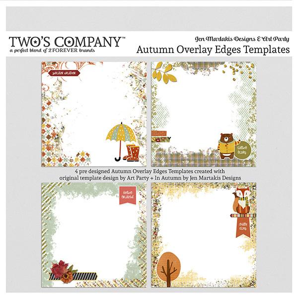 Autumn Overlay Edges Templates Digital Art - Digital Scrapbooking Kits