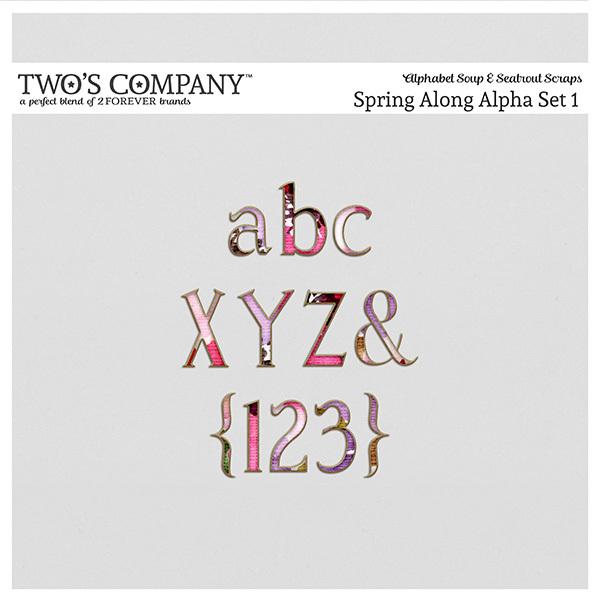 Spring Along Alpha Set 1 Digital Art - Digital Scrapbooking Kits