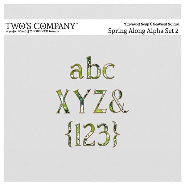 Spring Along Alpha Set 2 Digital Art - Digital Scrapbooking Kits
