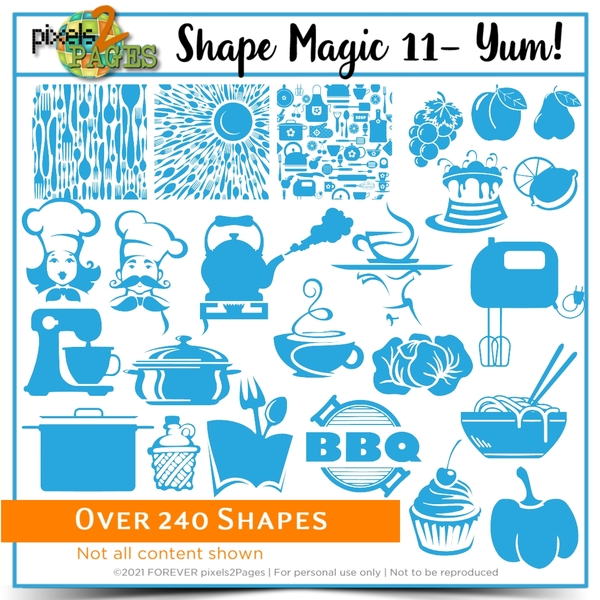 Shape Magic 11 - Yum Digital Art - Digital Scrapbooking Kits