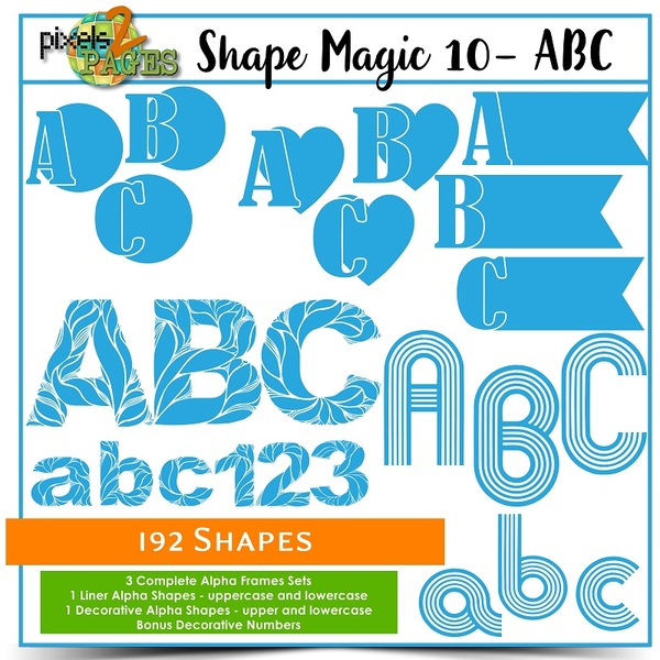 Shape Magic 10 - ABC Digital Art - Digital Scrapbooking Kits