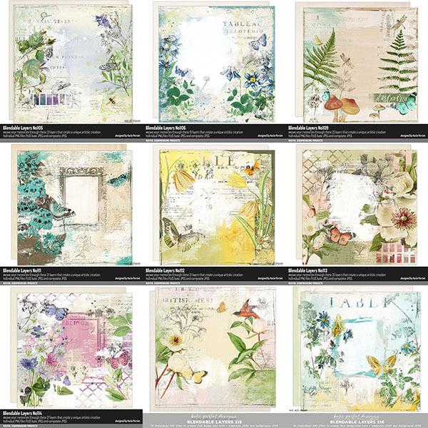 Blendable Layers Bundle Digital Art - Digital Scrapbooking Kits