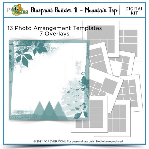 Blueprint Builder 1 - Mountain Top Digital Art - Digital Scrapbooking Kits