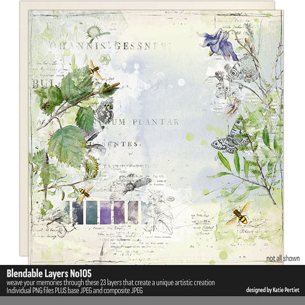 Blendable Layers 105 Digital Art - Digital Scrapbooking Kits