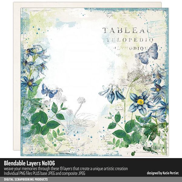 Blendable Layers 106 Digital Art - Digital Scrapbooking Kits