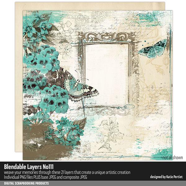 Blendable Layers 111 Digital Art - Digital Scrapbooking Kits