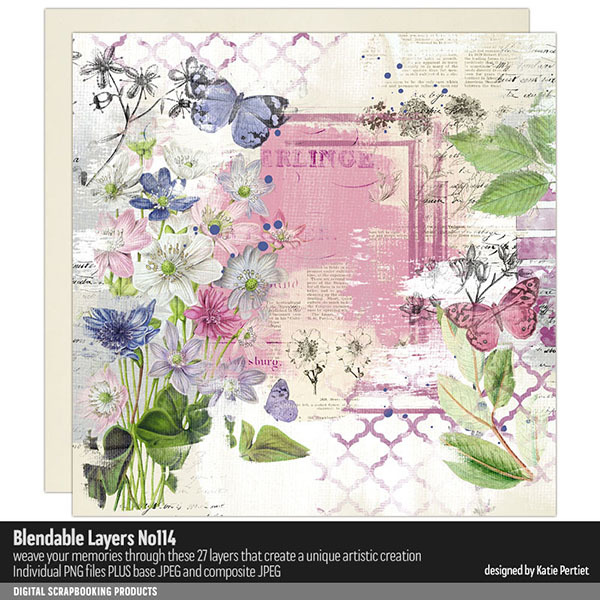 Blendable Layers 114 Digital Art - Digital Scrapbooking Kits