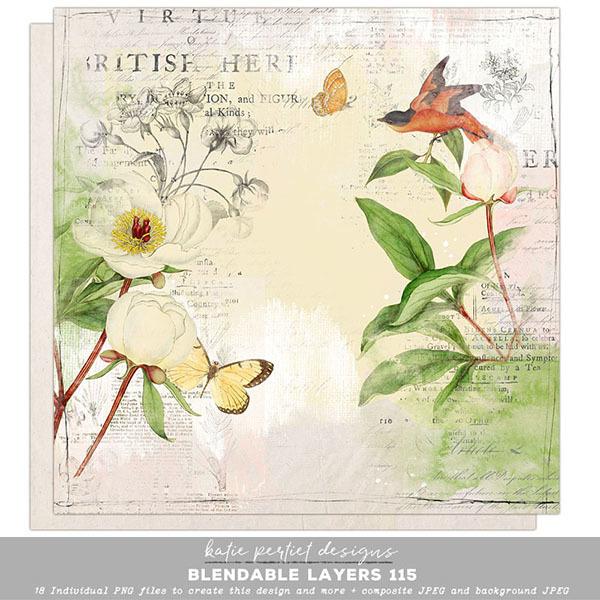 Blendable Layers 115 Digital Art - Digital Scrapbooking Kits