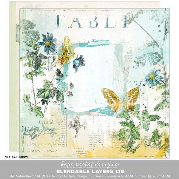 Blendable Layers 116 Digital Art - Digital Scrapbooking Kits