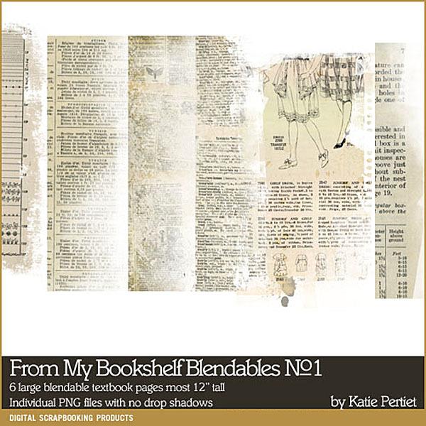 From My Bookshelf Blendables 01 Digital Art - Digital Scrapbooking Kits