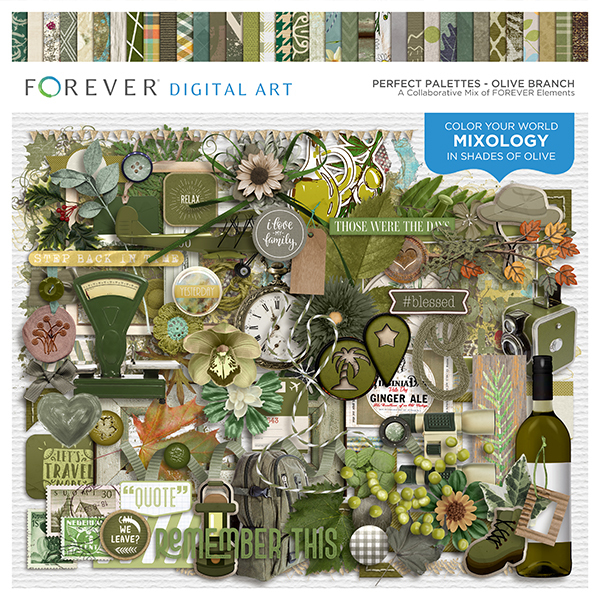 Perfect Palettes - Olive Branch Digital Art - Digital Scrapbooking Kits