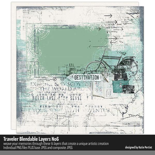 Traveler Blendable Layers 06 Digital Art - Digital Scrapbooking Kits