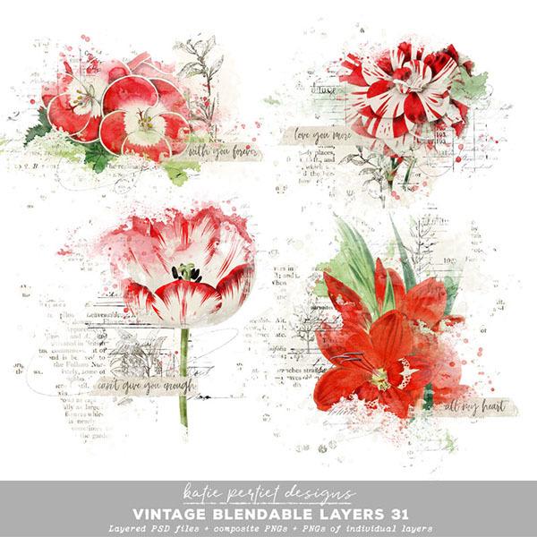 Vintage Blendable Layers 31 Digital Art - Digital Scrapbooking Kits