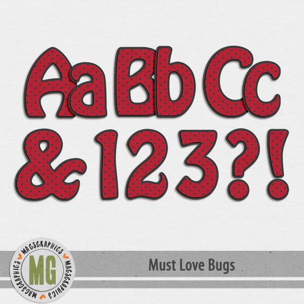 Must Love Bugs Alpha Digital Art - Digital Scrapbooking Kits