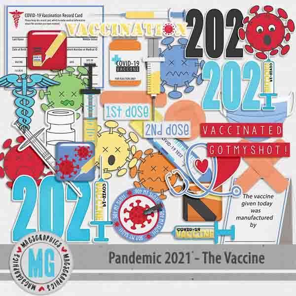 Pandemic 2021 The Vaccine Digital Art - Digital Scrapbooking Kits