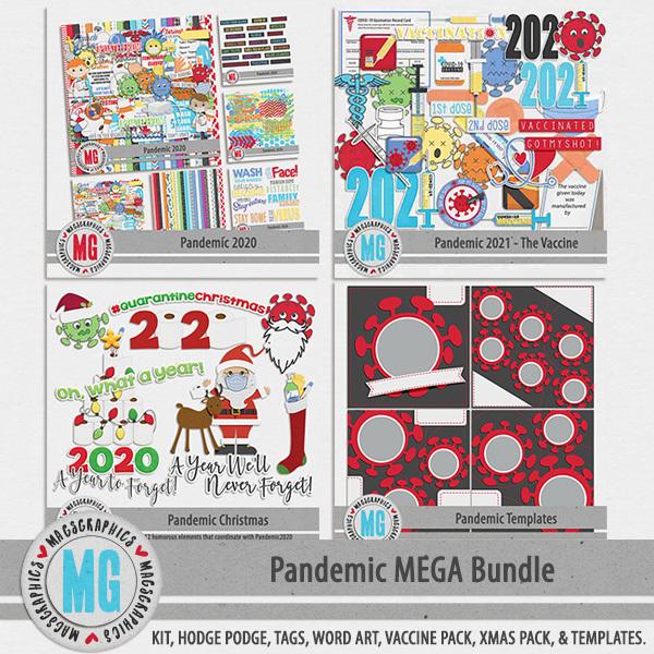 Pandemic MEGA Bundle Digital Art - Digital Scrapbooking Kits