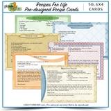 Recipes For Life Pre-designed Recipe Cards