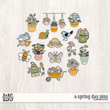 A Spring Day Pins