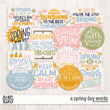 A Spring Day Words
