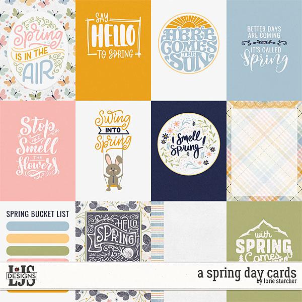 A Spring Day Cards Digital Art - Digital Scrapbooking Kits