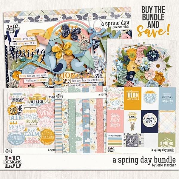 A Spring Day Bundle Digital Art - Digital Scrapbooking Kits