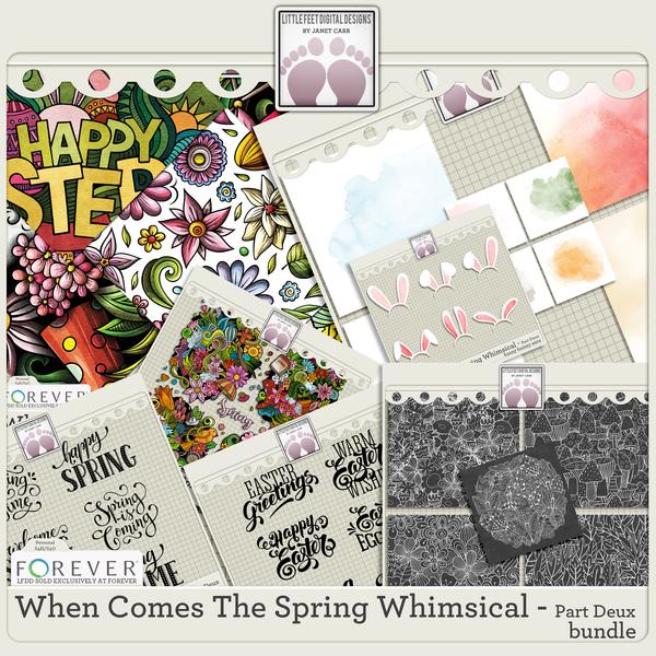 When Comes The Spring Whimsical Part Deux Bundle Digital Art - Digital Scrapbooking Kits