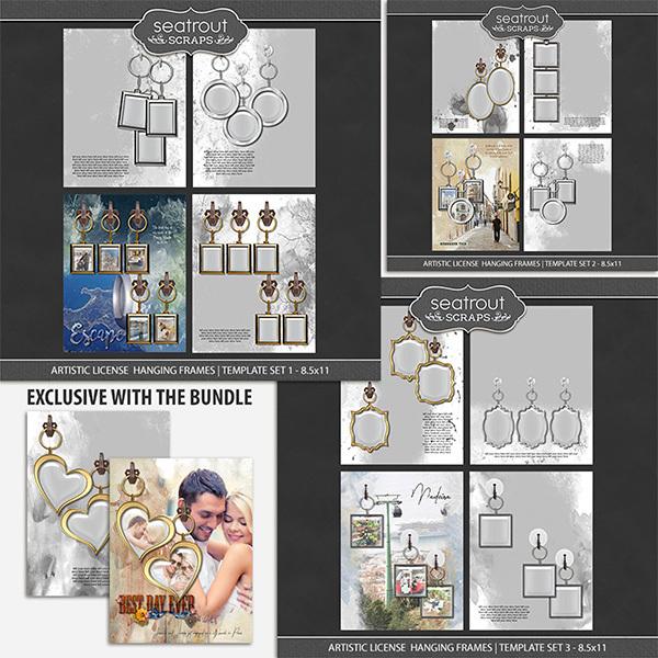 Artistic License Hanging Frames Bonus Bundle - 8.5x11