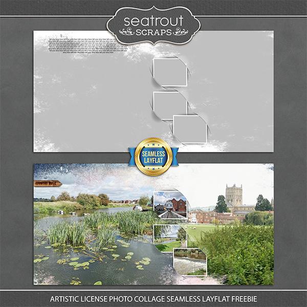 Artistic License Photo Collage Seamless Layflat Freebie