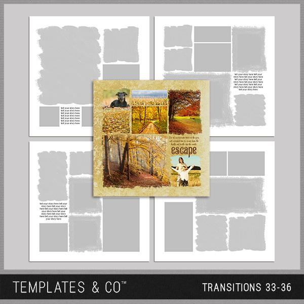 Transitions 33-36 Digital Art - Digital Scrapbooking Kits