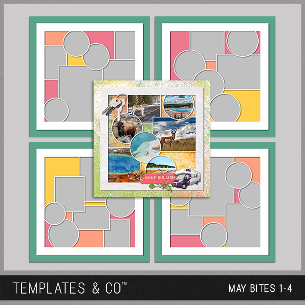 May Bites Digital Art - Digital Scrapbooking Kits
