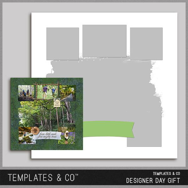 Templates & Co Designer Day Gift Digital Art - Digital Scrapbooking Kits