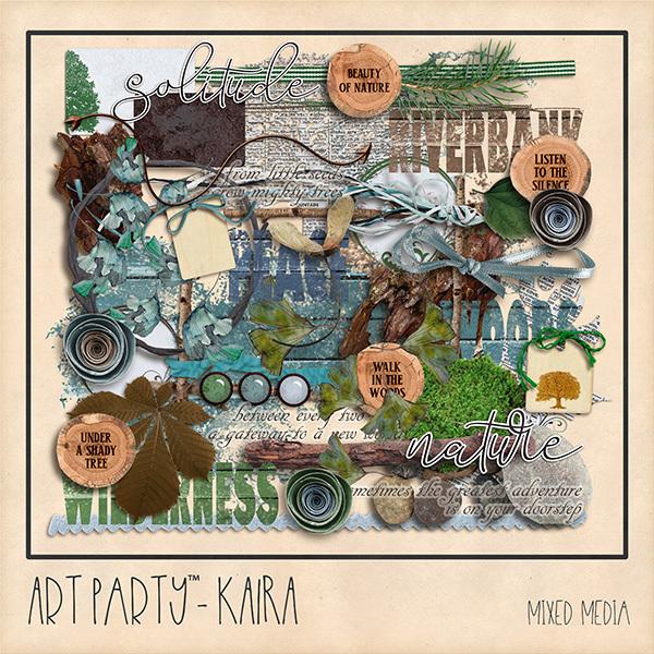 Kaira Mixed Media Embellishments Digital Art - Digital Scrapbooking Kits