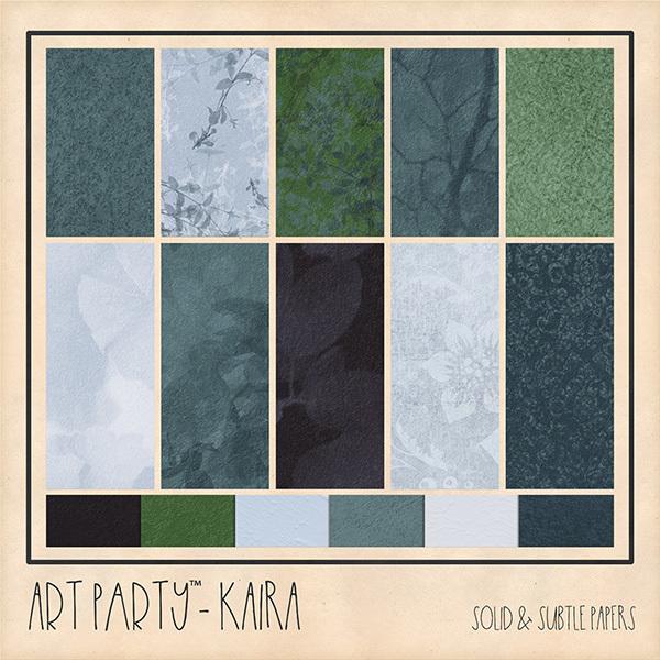 Kaira Solid & Subtle Papers Digital Art - Digital Scrapbooking Kits