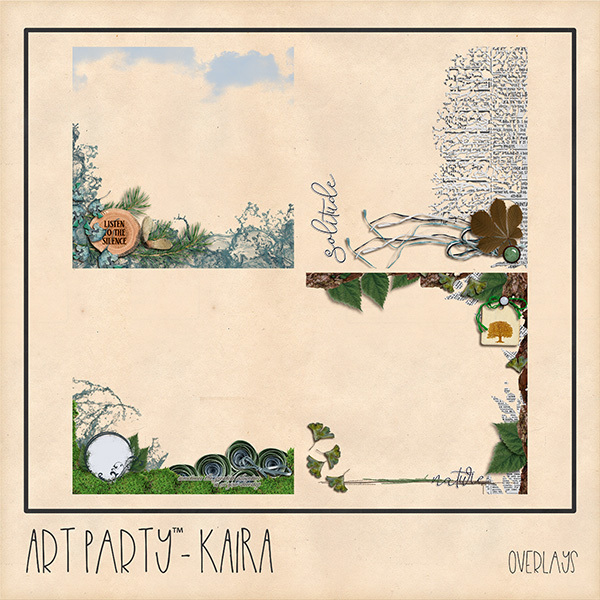 Kaira Overlays Digital Art - Digital Scrapbooking Kits