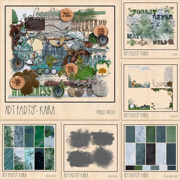 Kaira Complete Collection Digital Art - Digital Scrapbooking Kits